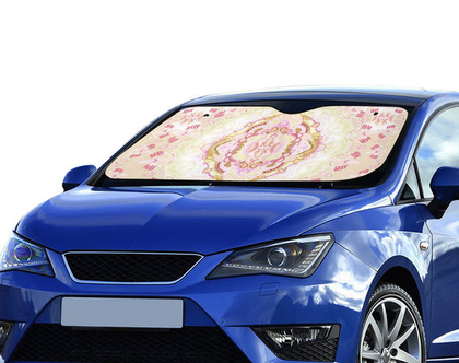 מגן שמש לרכב-75x140cm-ציור אומנותי-איכותי, מקורי ויפה