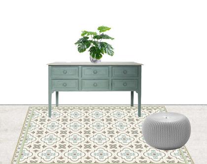 שטיח PVC -דגם GREEN | שטיח ויניל מעוצב לבית | שטיח PVC מעוצב לבית