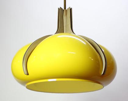 מנורת וינטאג׳ צהובה וגדולה, מנורת סלון צהובה