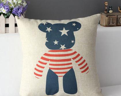 כרית נוי דובי USA