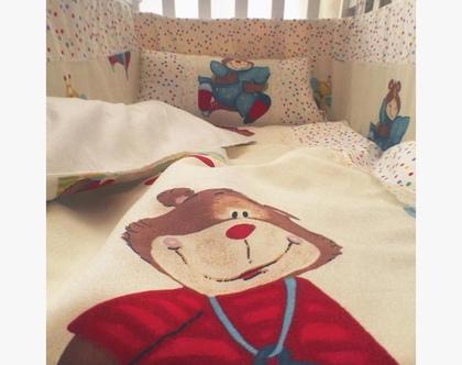 סט למיטת תינוק,סט חורף למיטת תינוק,מצעי חורף,מארז חורף לתינוקות,מגן ראש,שמיכת פוך לתינוק,כרית לתינוק,חורף לתינוקות,מצעי חורף לתינוקות