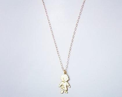שרשרת עם תליון של ילד מגולדפילד | תליון לב | שרשרת ירח | קואלה | מתנה לחברה | מתנה לאישה | מתנת נישואין | וולנטיינס דיי | מתנה רומנטית