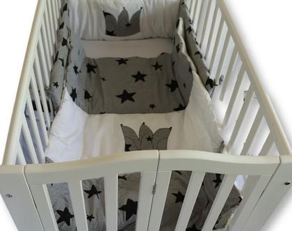 """סט מצעים למיטת תינוקת דגם """"שביט"""". ניתן לקבל גם כסט עריסה, מבית הני דויטש, מיוצר בישראל"""
