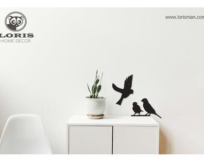 סט 3 ציפורים לתלייה על קיר I ציפורים I עיצוב הבית