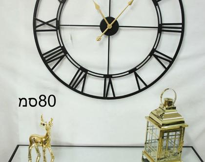 שעון רומי שחור