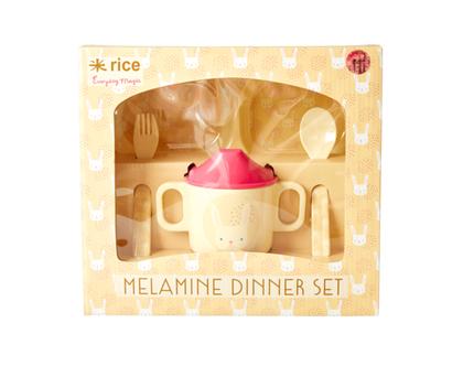 סט כלי אוכל/ כלי אוכל מלמין, סט כלי אוכל לילדים, סט כלי אוכל לילדה, סט כלי אוכל לתינוק