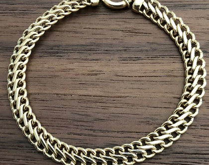 צמיד זהב קלאסי, צמיד זהב חוליות,