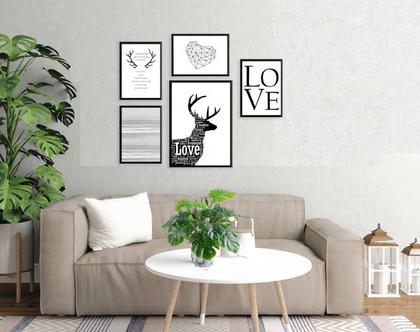 הדפסים בעיצוב נורדי - עיצוב מקורי |עיצוב נורדי| סט תמונות בעיצוב מינימליסטי | תמונות לסלון | תמונות שחור לבן|תמונות לעיצוב המשרד