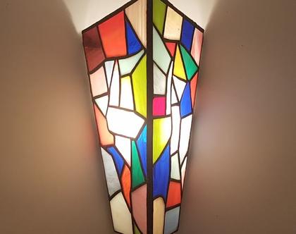 מנורת קיר צבעונית