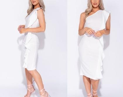 שמלה לבנה מידי כתף אחד London