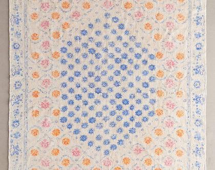 שטיח בוהו פרחוני