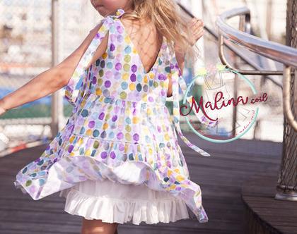 שמלה לילדה - שמלה של פעם - כותנה