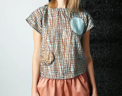 Sphere top חולצת משי