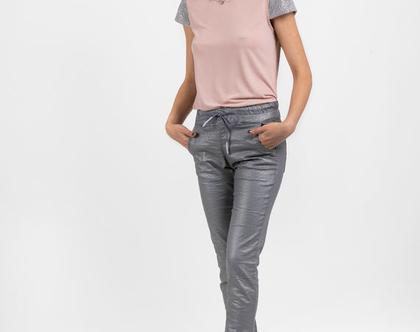 חולצה ורודה -דגם ג'לטין