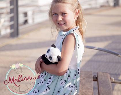 שמלה אסימטרית - שמלה חגיגית לילדה מכותנה