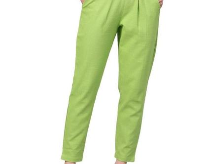מכנס כותנה גזרה מנצחת! ירוק נאון