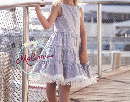 """שמלה מסתובבת לילדה מכותנה - """"כוכבת"""""""