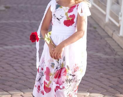 שמלה חגיגית לילדה - שמלת שיפון