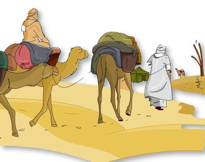 חוברת צביעה שיירה במדבר
