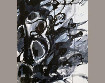 אמנות מודרנית לבית, אומנות ישראלית מקורית, ציור אורגינלי על קנבס, ציור צבעוני לסלון