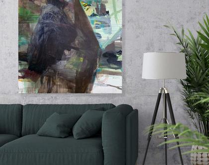 ציור אורגינלי על קנבס, אמנות מודרנית לבית, אומנות ישראלית מקורית, ציור לסלון