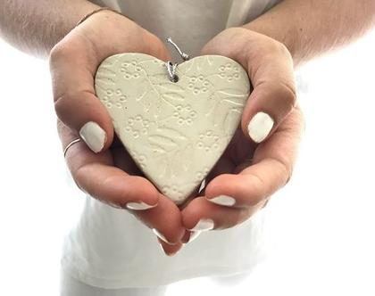 לבבות קרמיקה לבנים | מתנה לחתונה | מתנה קטנה | מתנה לאהוב | give away