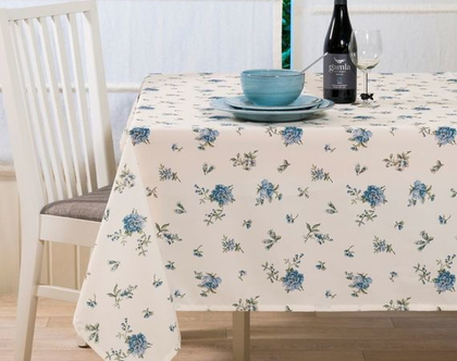 """מפת שולחן - דגם """"שקד"""" כחול"""