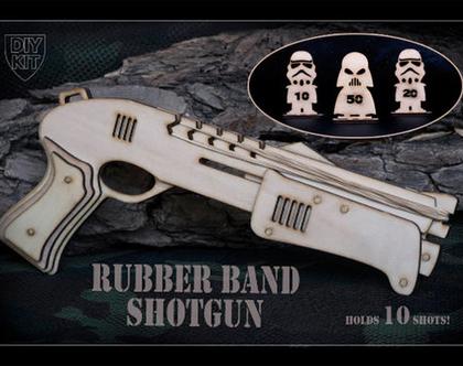 רובה גומיות חצי אוטומטי להרכבה עצמית עם מטרות Star wars