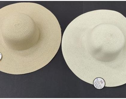 כובע רקמה רחב שוליים | כובע לרקמה | כובע נשים
