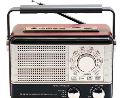 רדיו רטרו רמקול בלוטוס כולל סוללה נטענת