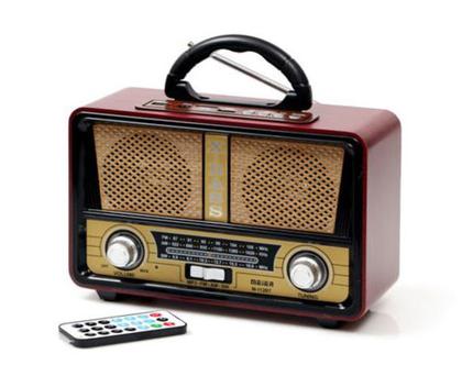 רדיו רטרו רמקול בלוטוס כולל סוללה נטענת כולל תאורה