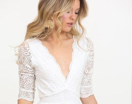 שמלת כלה רומנטית תחרה