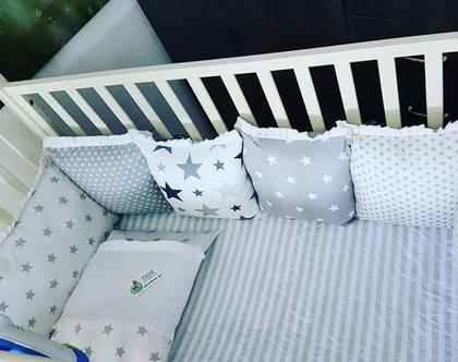מגן ראש למיטת תינוק , מגן ראש מעוצב , מגן ראש , מגן ראש בעיצוב אישי , סט למיטת תינוק