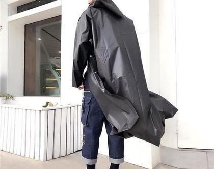 מעיל גשם כפתורים | מעיל גשם לגבר