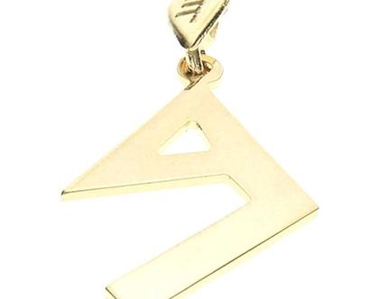שרשרת תליון זהב אות עברית קדומה - ב