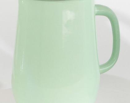 קנקן מים מאמייל בצבע מנטה