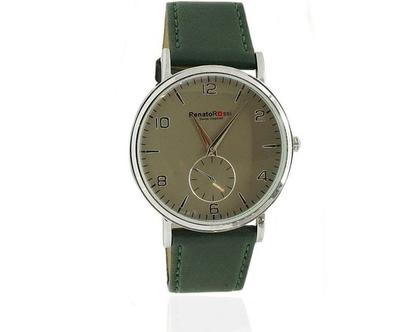 שעון יד לגבר עם רצועת עור רנטו רוסי