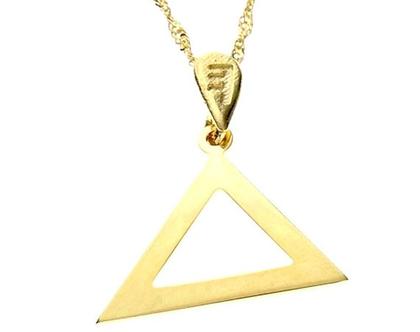 שרשרת תליון זהב אות עברית קדומה - ד׳