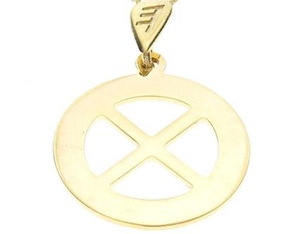 שרשרת תליון זהב בצורת אות עברית קדומה - ט׳