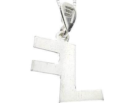 שרשרת תליון כסף בצורת אות עברית קדומה - י׳