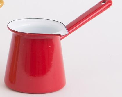 פינג'אן קטן מאמייל בצבע אדום