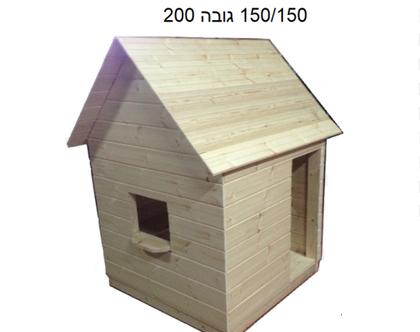 בית לגינה לילדים מעץ מלא