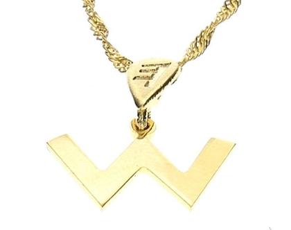 שרשרת תליון זהב בצורת אות עברית קדומה - ש׳