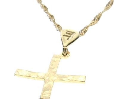 שרשרת תליון זהב בצורת אות עברית קדומה - ת׳