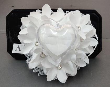 כרית קופסא לטבעות | כרית למתחתנים דגם A