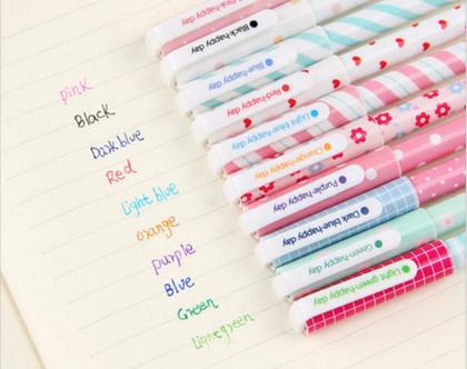 סט עטים צבעוניים ו עטים מיוחדים ו עטים מקושטים ו אביזרי כתיבה ו כלי כתיבה מיוחדים