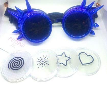 חדש!! משקפת ספייקים מרופדת עם עדשות מתחלפות לשבירת אור - לבבות, כוכבים ועוד