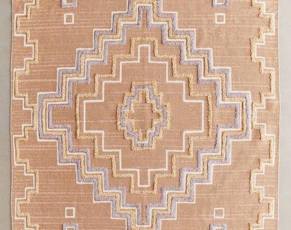 שטיח כותנה בעיצוב בוהו