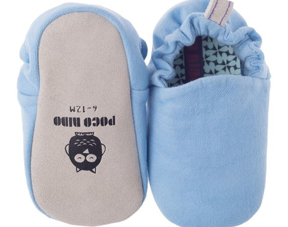 נעלי טרום הליכה | נעליים רכות לתינוק | מיני שוז | כחול ג'ינס