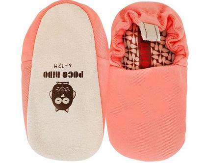 נעלי טרום הליכה | נעליים רכות לתינוק | מיני שוז | ורוד אפרסק